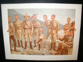 Vanity Fair Double Print 1900 A General Group, Military Boer War